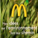 """Affiche McDo """"Nos idées pour l'environnement font leur chemin"""""""