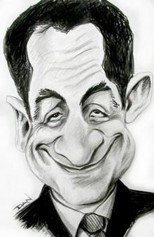 Caricature de Sarkozy
