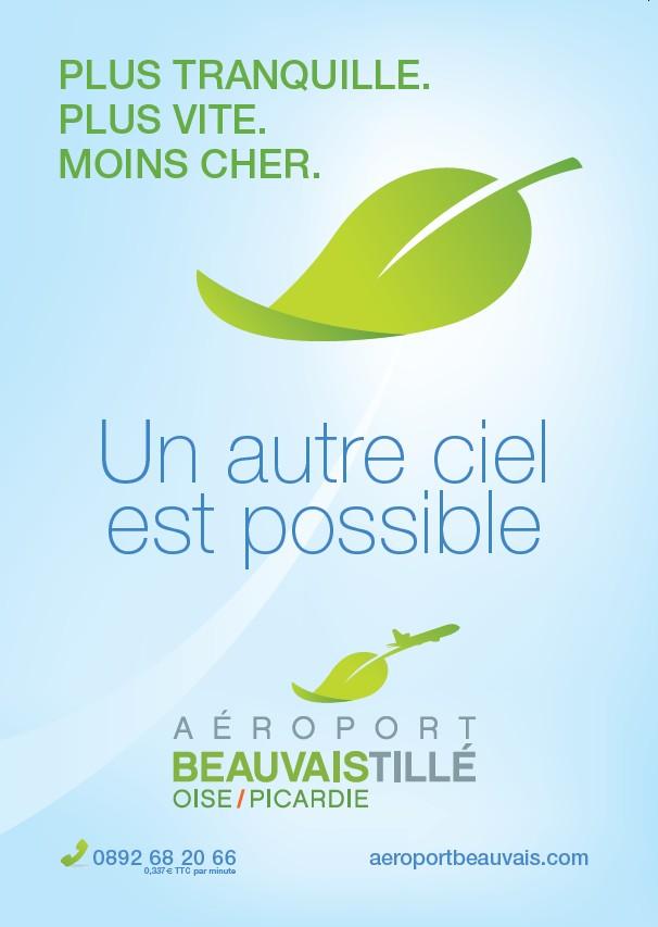 Affiche aéroport de Beauvais... Un exemple de Greenwashing