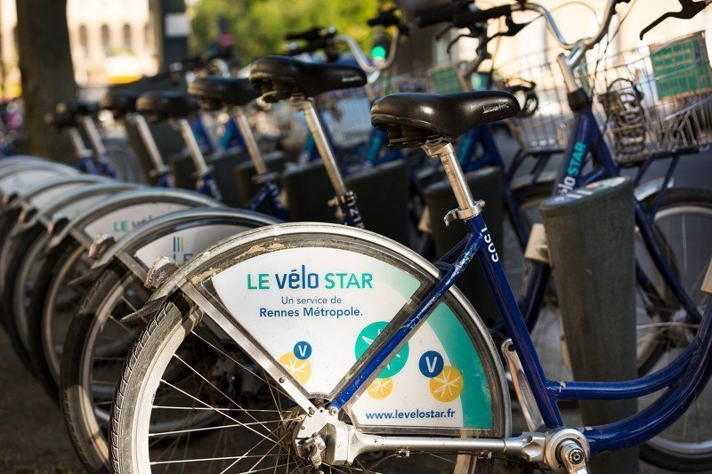 Le système de vélo en libre partage STAR à Rennes